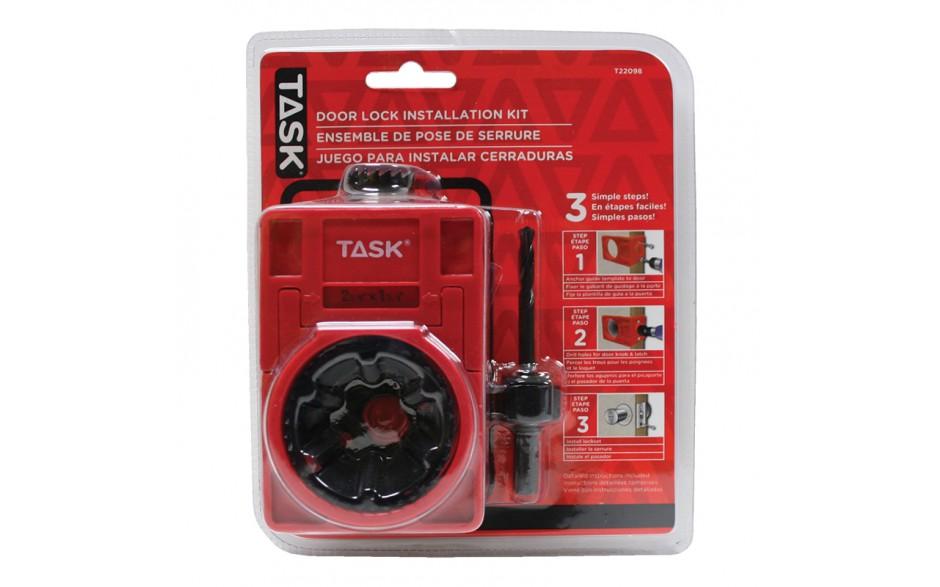 4pc carbon steel door lock installation kit with plastic for Clamshell door