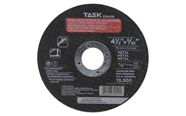 "4-1/2"" x 3/32"" 7/8"" Arbor Metal Cutting Wheel - Bulk"