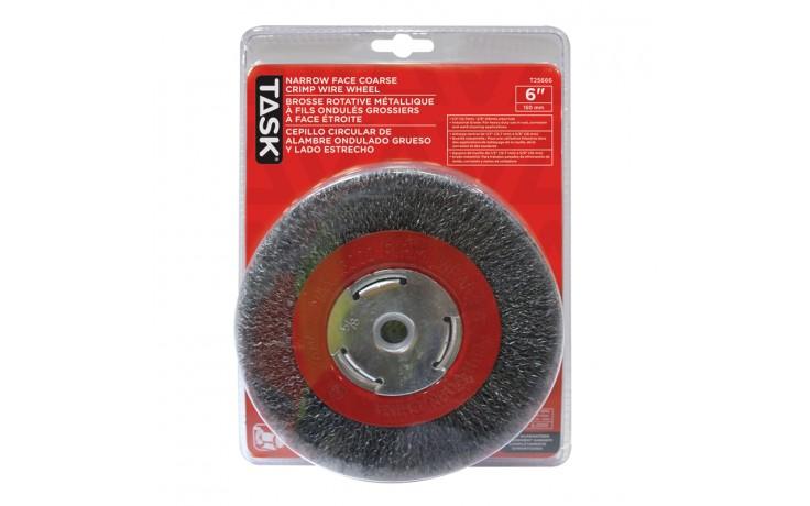 "6"" Coarse Steel Industrial Crimp Wheel for Bench Grinders - 1/pack"