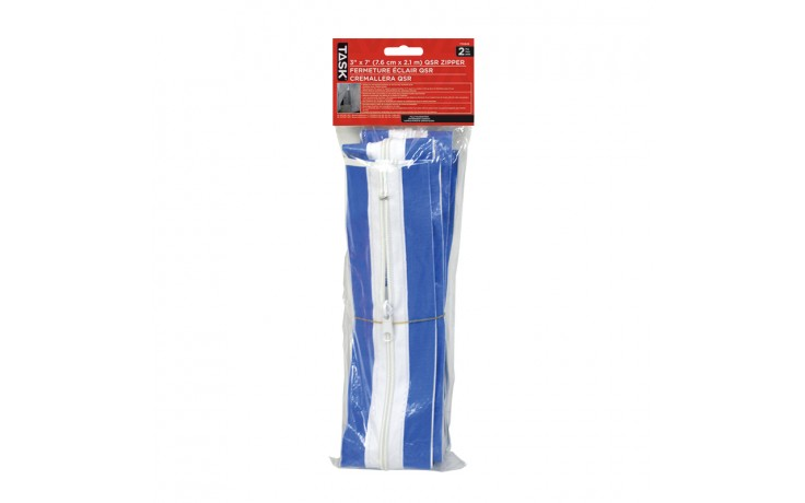 "3"" x 7' QSR Zipper - 2/pack"
