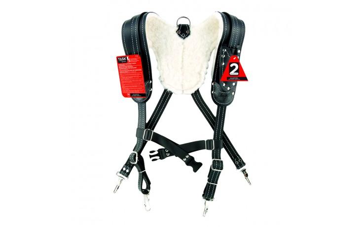 Black Sheepskin Lined Suspender Harnesses SPECIAL ORDER - 1/pack