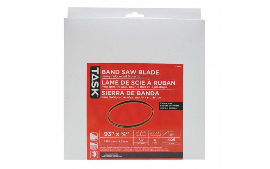 "93"" 3/8"" 6 TPI Band Saw Blade - 1/pack"