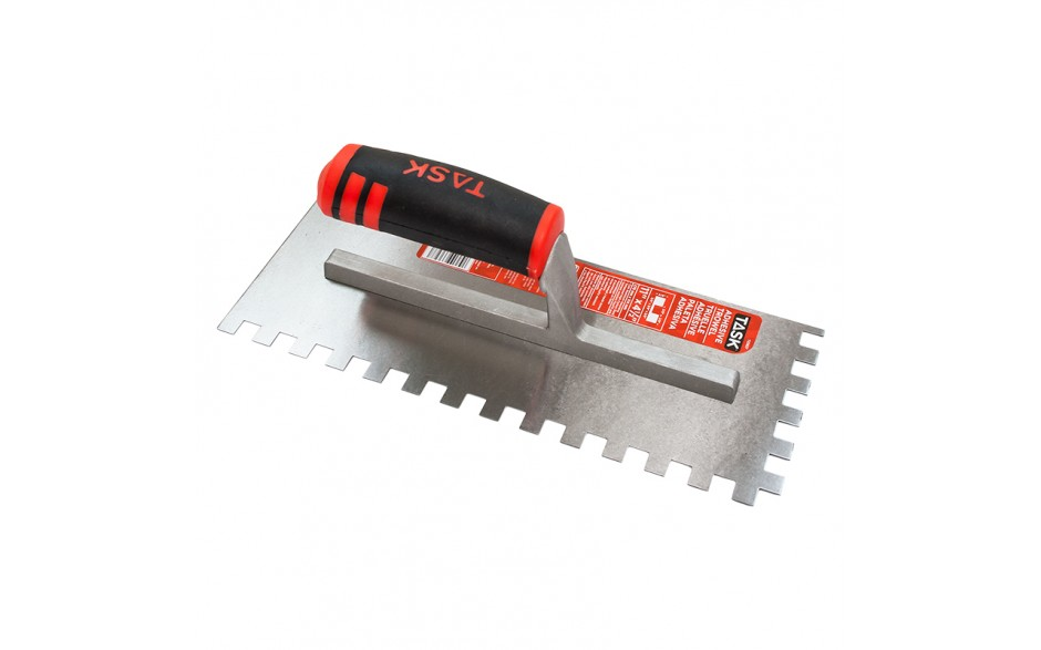 "11"" x 4 1/2"" (3/8"" x 3/8"" x 3/8"") Square Notch Adhesive Trowel with FlexFit Grip"