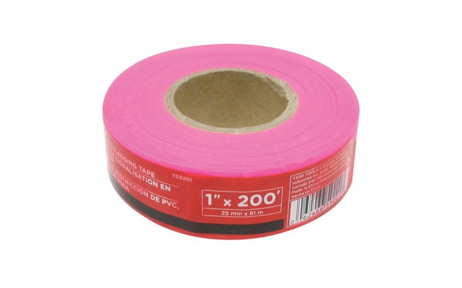 "1"" x 200' Pink PVC Flagging Tape"