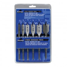 6pc Wood Boring Bit Set - Clamshell