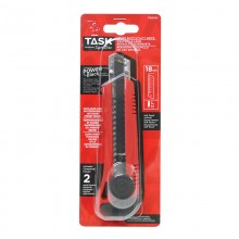 18 mm Ratchet Lock Knife with Soft Touch Coating - 1/pack