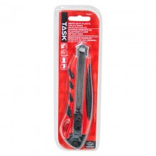 18 mm Auto Lock Knife with Rubber Grip - 1/pack