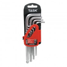 10pc Metric Ball-End L-Type Hex Key Set - 1/pack