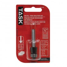 "Bevel Trim 1/2"" Bearing 1/2"" x 3/8"" Carbide Ht. 7° 1/4"" Shank Router Bit - 1/pack"