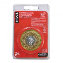 "1-1/2"" Coarse Brass Coated Steel Crimp Wire Wheel - 1/pack"