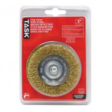 "3"" Fine Brass Coated Steel Crimp Wire Wheel - 1/pack"