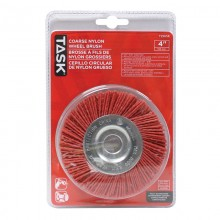 "4"" Coarse Nylon Wheel Brush with 1/2 & 5/8"" Arbor Hole  - 1/pack"