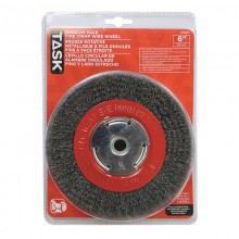"6"" Fine Steel Industrial Crimp Wheel for Bench Grinders - 1/pack"