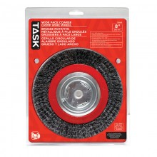 "8"" Coarse Steel Industrial Crimp Wheel for Bench Grinders - 1/pack"