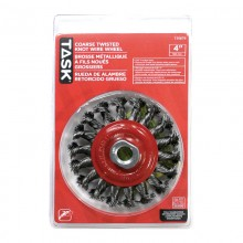 """4"""" Coarse Steel Industrial Twisted Knotted Wheel for Angle Grinders - 1/pack"""
