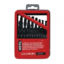 21pc HSS Drill Bit Set - Metal Index Box