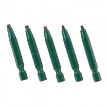 "#1 Robertson® 2"" Green Two-Piece Screwdriver Bit - Bulk"