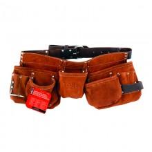 Leather Belt 11 Pocket Carpenter Apron - 1/pack
