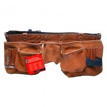 Leather Belt 11 Pocket Oversize Carpenter Apron - 1/pack