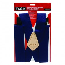 Full Elastic Navy Suspenders - 1/pack
