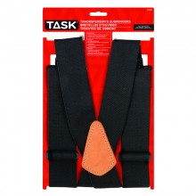 Full Elastic Black Suspenders - 1/pack