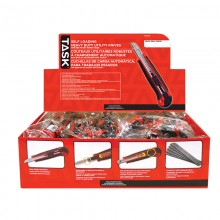 9 mm Auto Lock Knife with Rubber Grip & Auto-Reload - 32 per Display Box