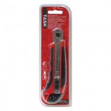 18 mm Auto Lock Knife with Rubber Grip & Auto-Reload - 1/pack