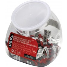 "#2 Robertson® 2"" Red Two-Piece Screwdriver Bit - 100/Jar"