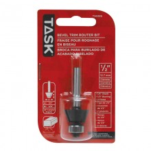 "Bevel Trim 1/2"" Bearing 1/2"" x 3/8"" Carbide Ht. 22° 1/4"" Shank Router Bit - 1/pack"