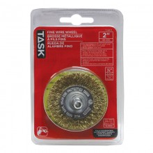 "2"" Fine Brass Coated Steel Crimp Wire Wheel - 1/pack"