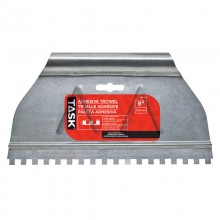 "9"" (1/4"" x 1/4"" x 1/4"") Square Notch Adhesive Spreader"