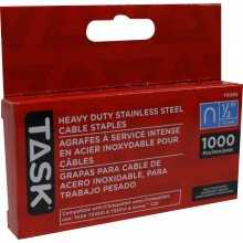 "1/2"" (12mm) Heavy Duty Stainless Steel Cable Staples - 1000/pack"