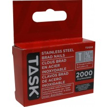 "5/8"" (16mm) Stainless Steel Brad Nails - 2000/pack"