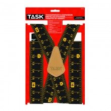 Full Elastic Tape Measure Pattern Suspenders - 1/pack
