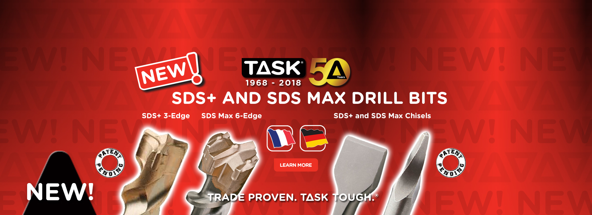 Task SDS+ and SDS Max Drill Bits