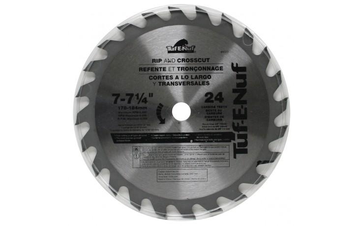 """7-1/4"""" 24T ATB Framing & Decking Blade - Bulk"""
