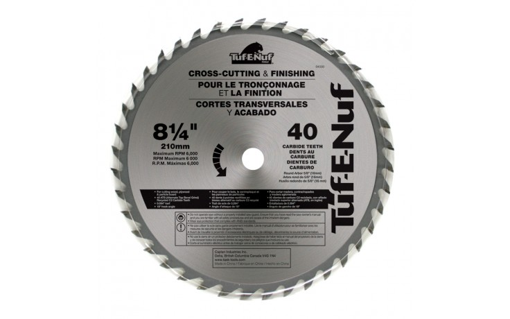"8-1/4"" 40T ATB Supercut Fine Finishing Blade - Bulk"