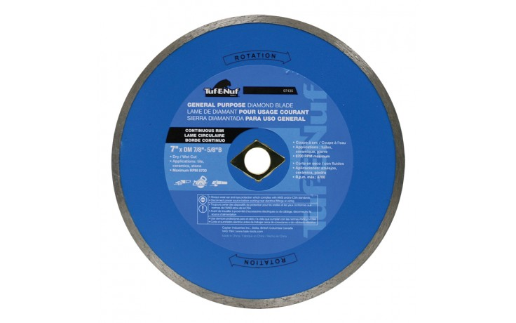 "7"" Continuous Rim Diamond Blade - 10 per Display Box"