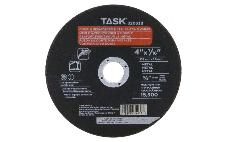 "4"" x 1/16"" 5/8"" Arbor Metal Cutting Wheel - Bulk"