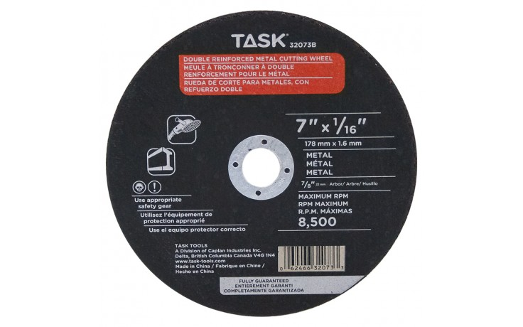 "7"" x 1/16"" 7/8"" Arbor Metal Cutting Wheel - Bulk"