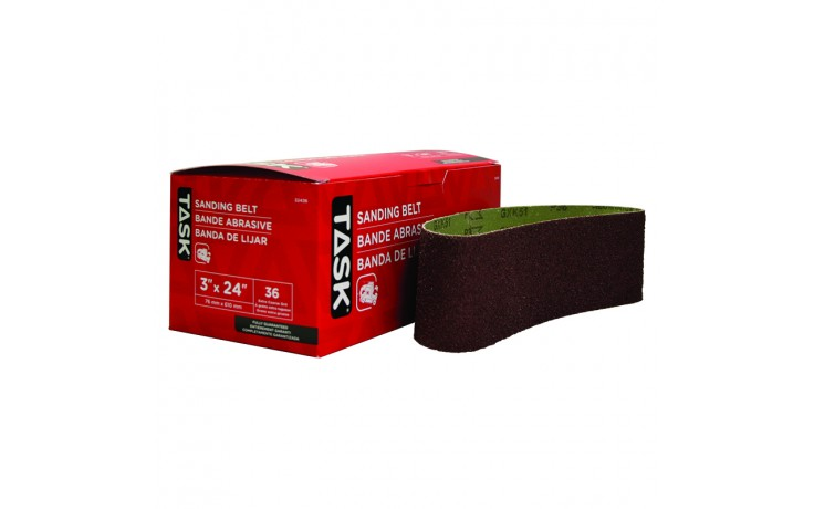 "3"" x 24"" 36 Grit Sanding Belt - Boxed"
