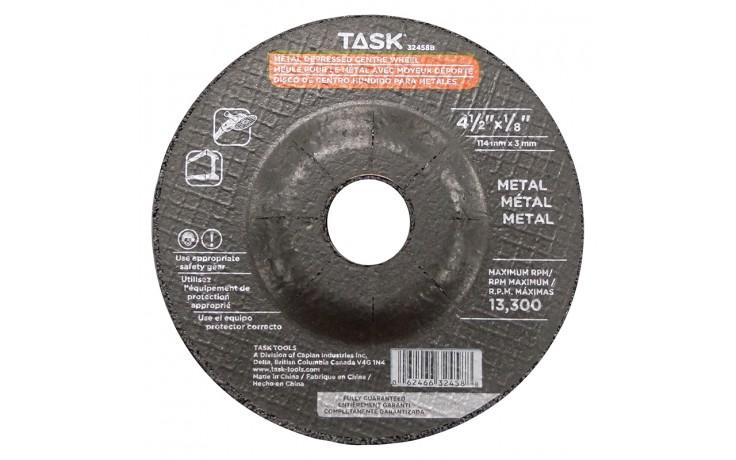 """4-1/2"""" x 1/8"""" 7/8"""" Arbor Metal Depressed Center Wheel - Bulk"""