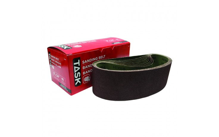 "3"" x 24"" 80 Grit Sanding Belt - Boxed"
