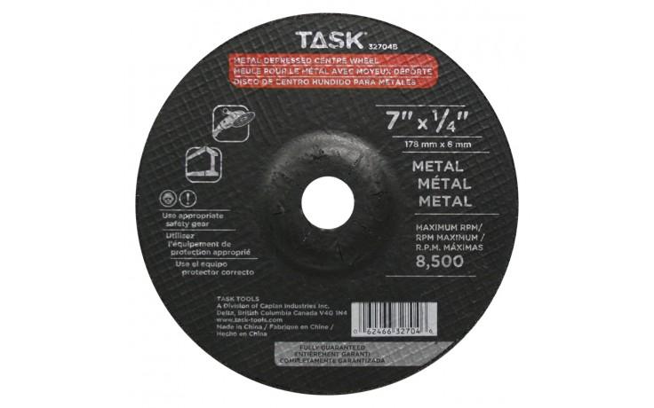 """7"""" x 1/4"""" 7/8"""" Arbor Metal Depressed Center Wheel - Bulk"""