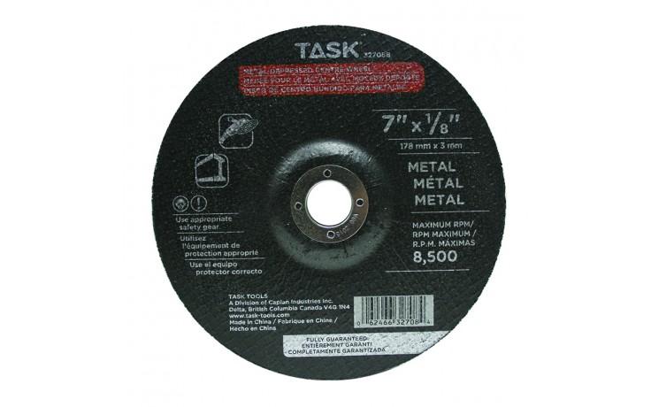 """7"""" x 1/8"""" 7/8"""" Arbor Metal Depressed Center Wheel - Bulk"""