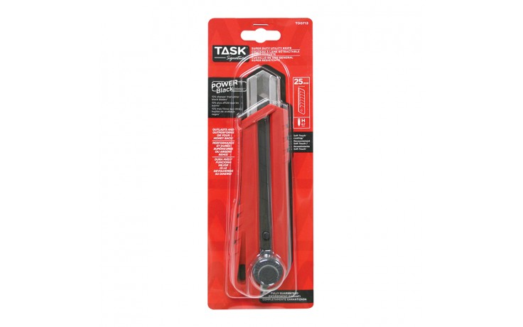 25 mm Ratchet Lock Knife with Soft Touch Coating - 1/pack