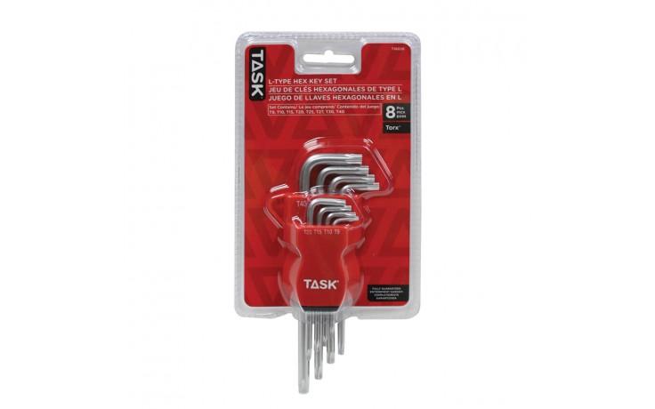 8pc Torx Short L-Type Hex Key Set - 1/pack