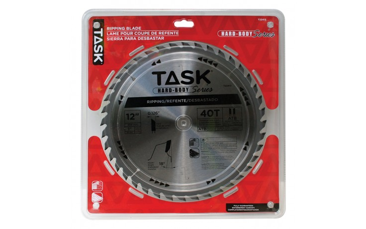 """12"""" 40T ATB Hard Body Ripping Blade - 1/pack"""