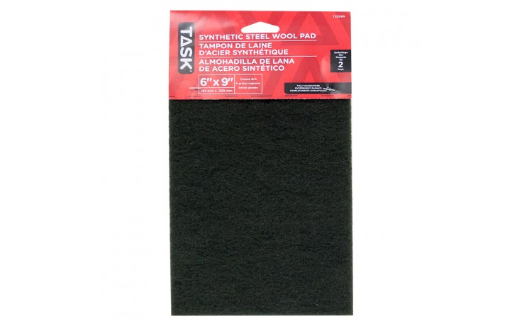 """6"""" x 9"""" Course Green Synthetic Steel Wool Pad - 2/pack"""