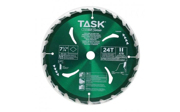 "7-1/4"" 24T ATB Hardbody Thin Kerf Pressure Treated Wood Blade - Bulk"